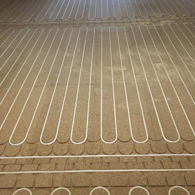 Ogrzewanie podłogowe, zabudowa sucha