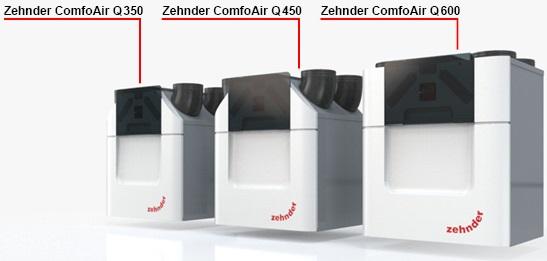 Zehnder_comfoair_Q, Aeris next, Strok Air