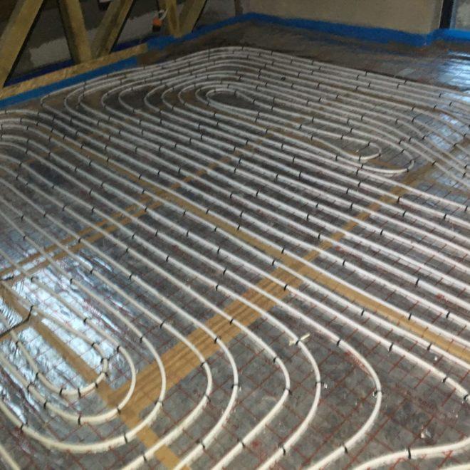 Ogrzewanie podłogowe, projekt Strzegom