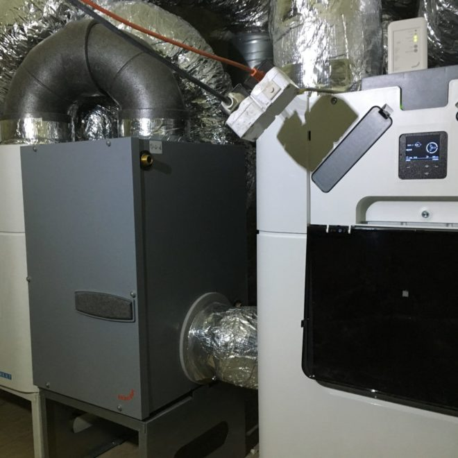 Rekuperator AERISnext wraz z gruntowym glikolowy wymiennik ciepła ComfoFond-L Q,